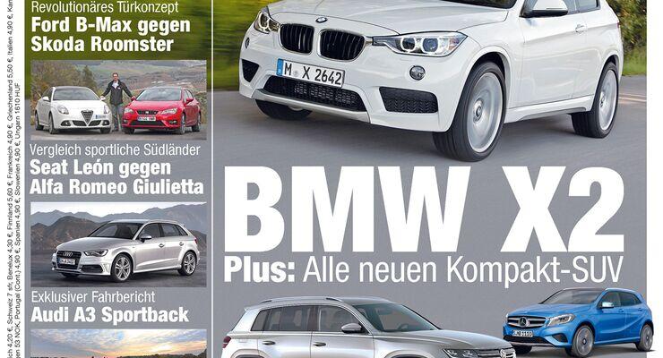 Neues Heft: BMW X2 und alle neuen Kompakt-SUV - AUTO MOTOR UND SPORT