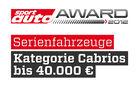 sport auto Award 2012 Serienfahrzeuge Kategorie Cabrios bis 40.000 Euro