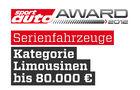 sport auto Award 2012 Serienfahrzeuge Kategorie Limousinen bis 80.000 Euro