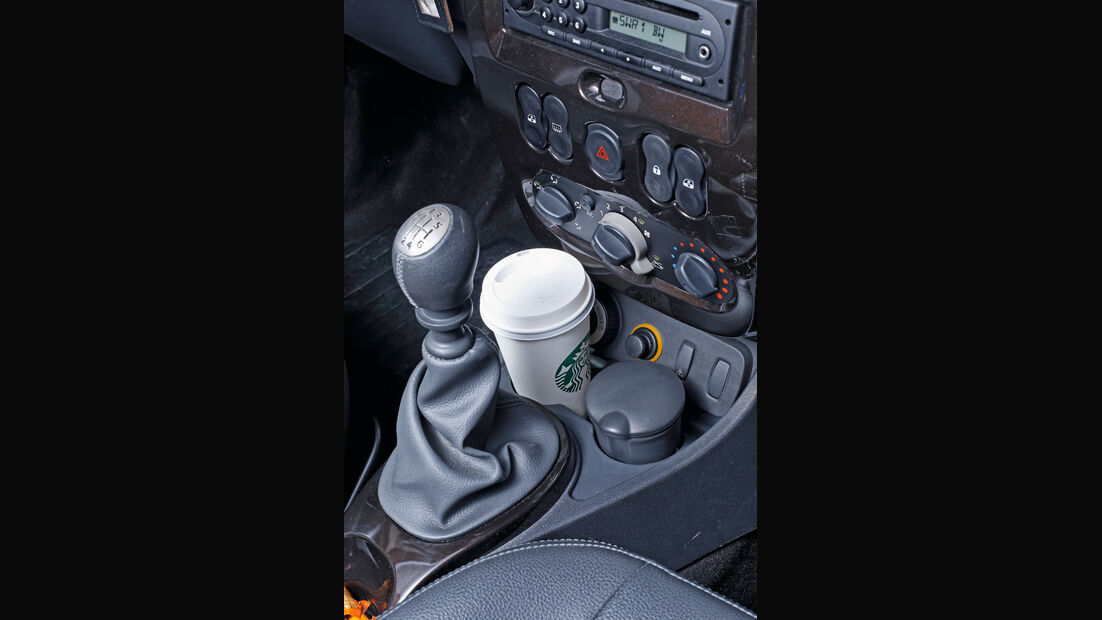 Dacia Duster, Cupholder