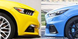 Ford Mustang  Ford Focus RS Aufmacher