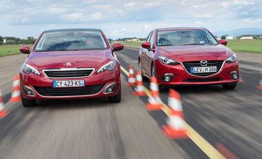 Mazda 3 Skyactive G 120, Peugeot 308 125 THP
