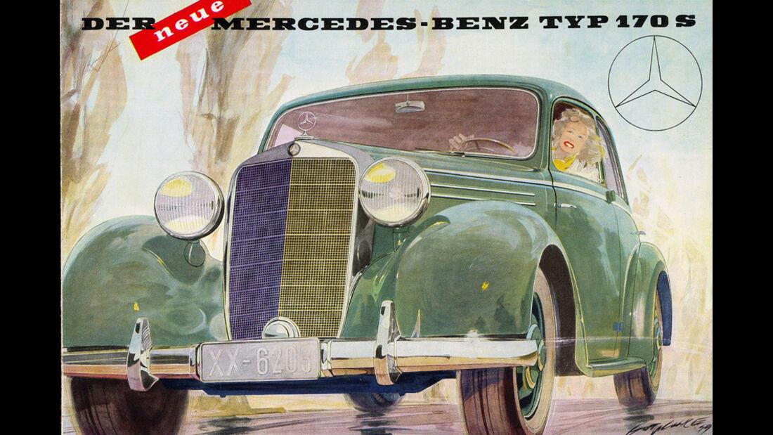 Mercedes Benz 170S, Poster