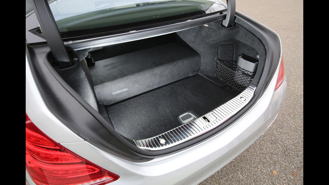 Mercedes S 500 e, Kofferraum