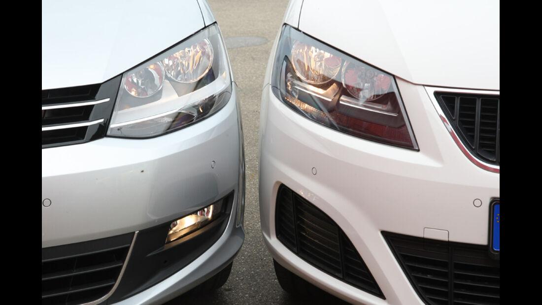 Seat Alhambra, VW Sharan, Scheinwerfer