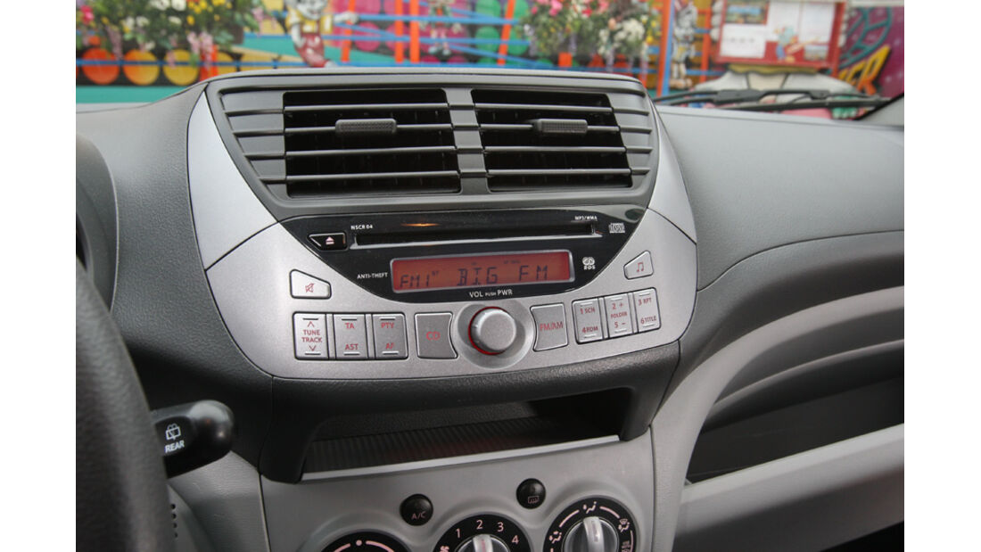 Suzuki Alto 1.0 Club, Radio, Mittelkonsole