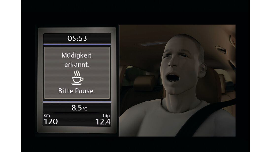 VW Golf, Müdigkeitssensor