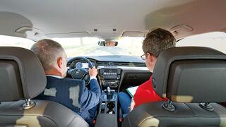 VW Passat, Cockpit, Fahrersicht
