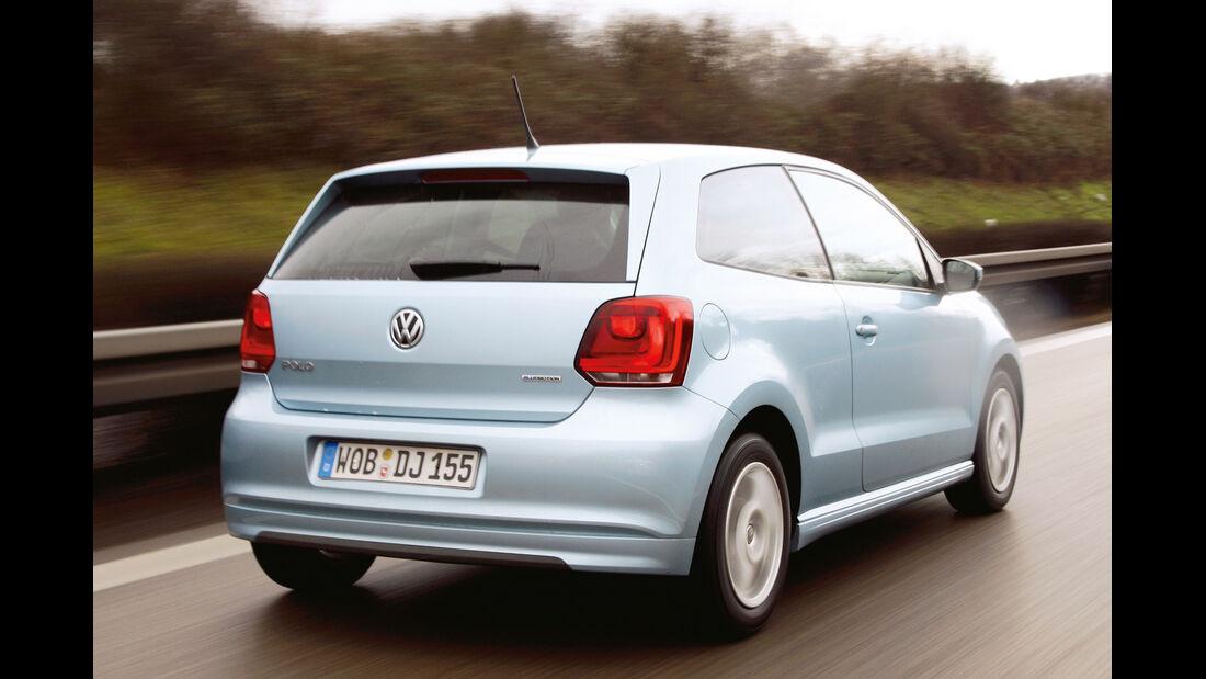 VW Polo Blue Motion, Heckansicht