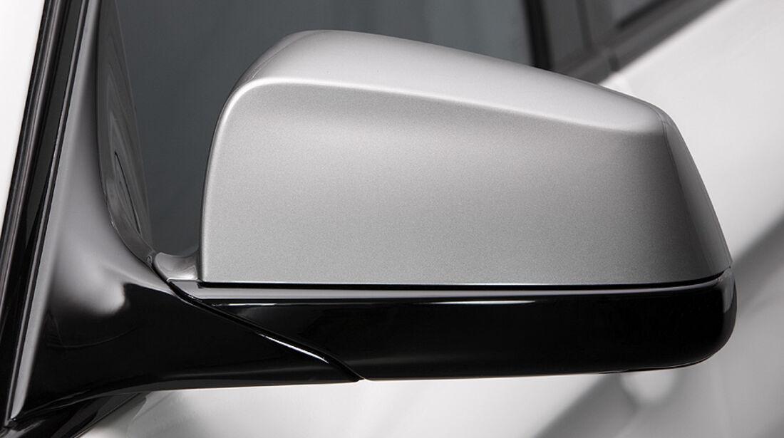 01/2012, BMW M 550d xDrive, Außenspiegel