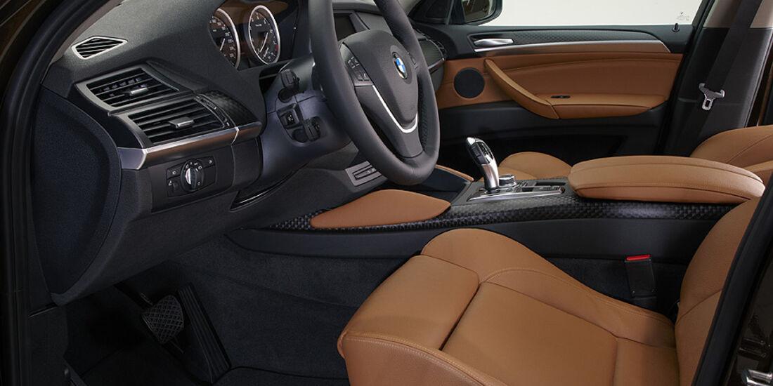 01/2012, BMW X6 2012 Facelift, Innenraum
