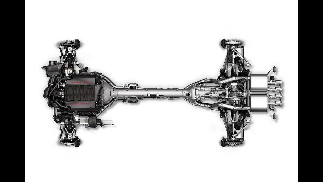 01/2013 Chevrolet Corvette, Antriebsstrang