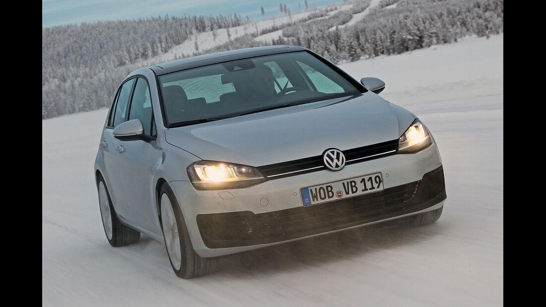 01/2013 VW Golf Abnahmefahrten Polarkreis, Golf R