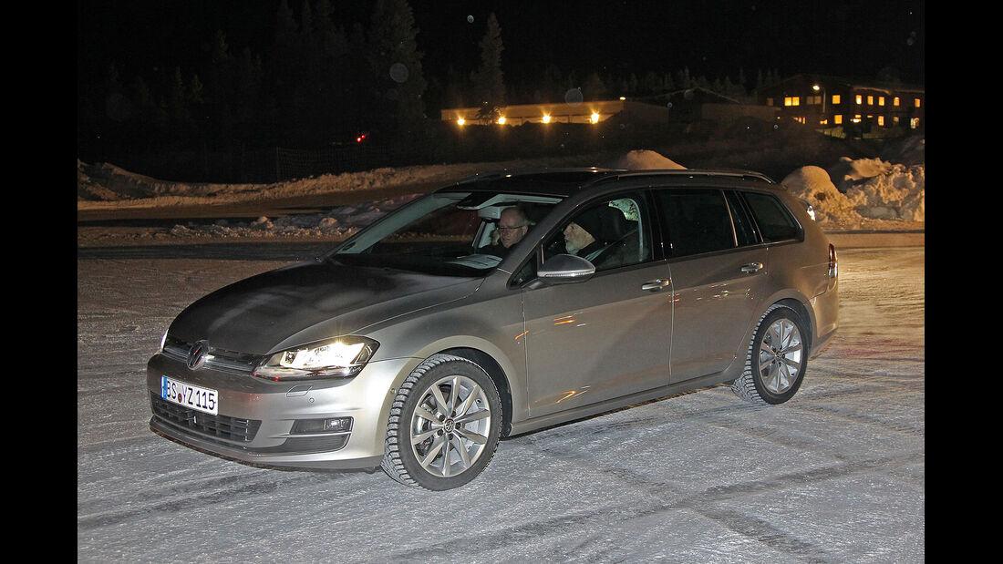 01/2013 VW Golf Abnahmefahrten Polarkreis, Golf Variant