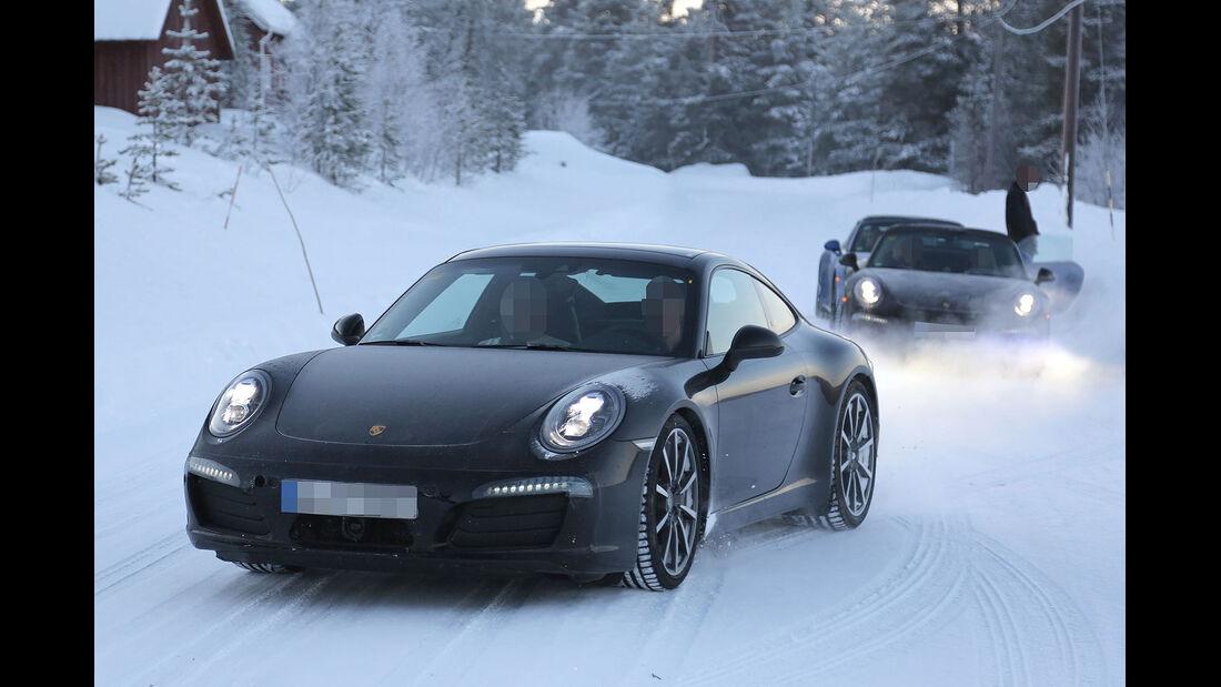 01/2014, Erlkönig Porsche 911 Wintertest