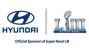 01/2019, Hyundai Hauptsponsor Super Bowl LIII Logo