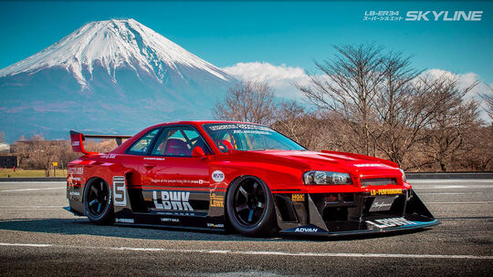 01/2020, Liberty Walk Nissan Skyline R34 Widebody