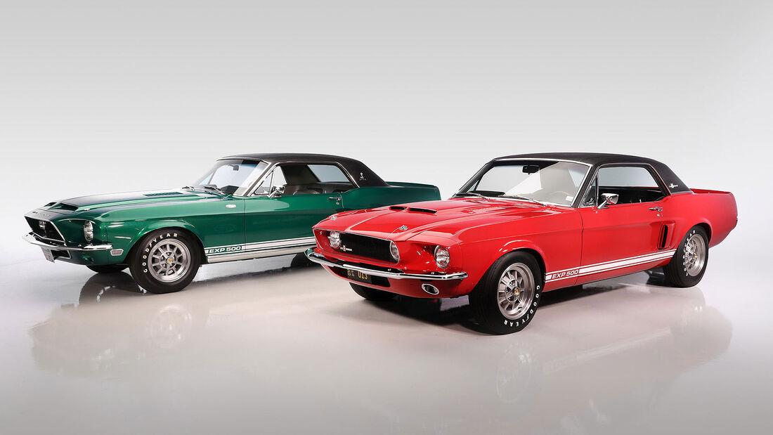 01/2020, Shelby Mustang Prototypen Green Hornet und Little Red