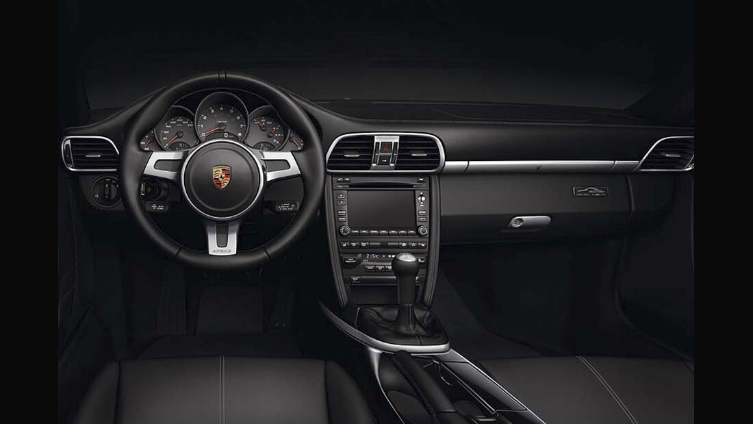 0111, Porsche 911 Sondermodell Black Edition, Armaturenbrett, Innenraum
