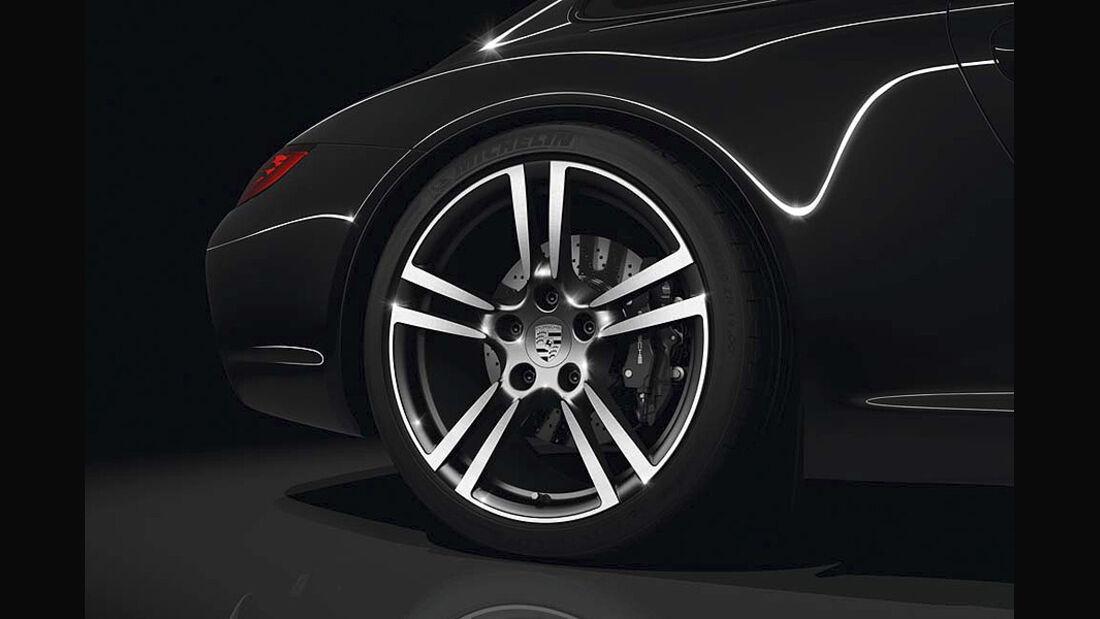 0111, Porsche 911 Sondermodell Black Edition, Felge, Rad