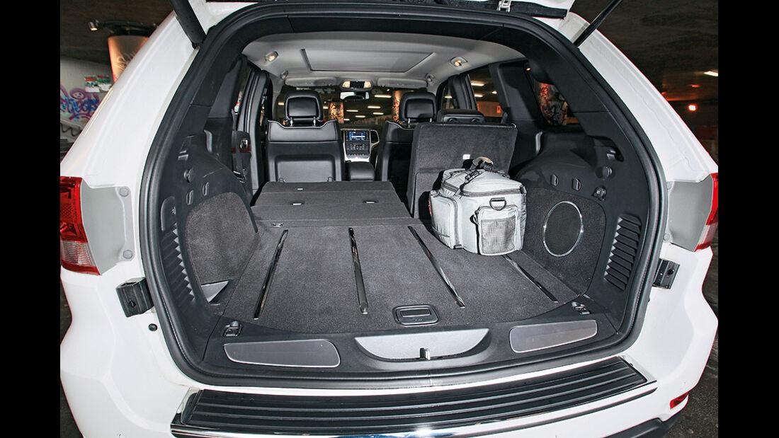 0111, ams 01/2011, Jeep Grand Cherokee 3.6 V6 Overland, Kofferraum