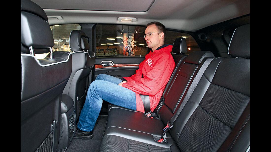 0111, ams 01/2011, Jeep Grand Cherokee 3.6 V6 Overland, Rückbank