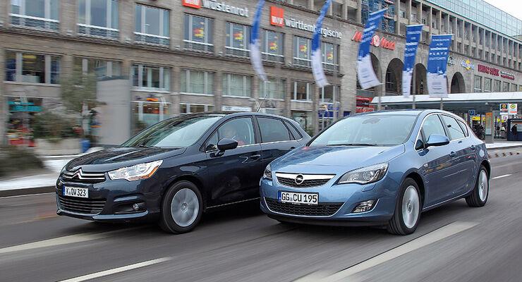 0111, ams 02/2011, Citroen C4 1.6, Opel Astra 1.4 Turbo