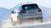 0111, ams 02/2011, Traktionsvergleich, Allradantrieb, Schnee, Porsche Cayenne