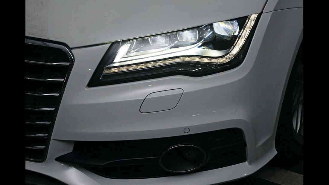 0111, ams 03/2011, Lichttest, Scheinwerfer Audi A7