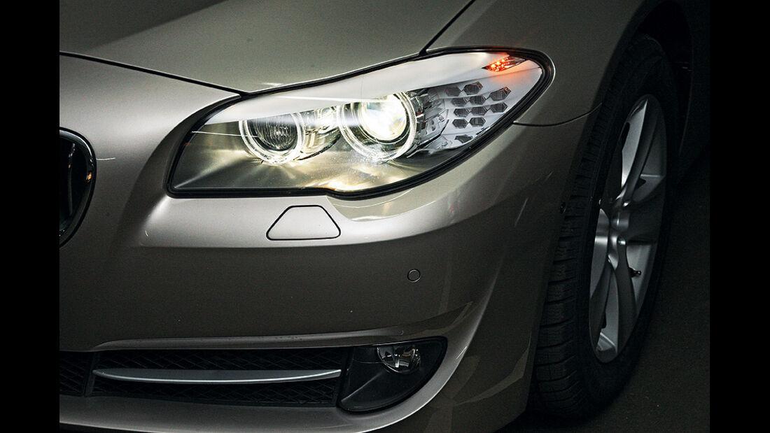 0111, ams 03/2011, Lichttest, Scheinwerfer BMW 5er