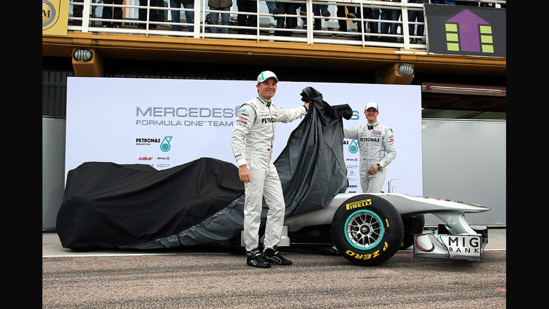 02/11 Mercedes GP W02 2011 Launch