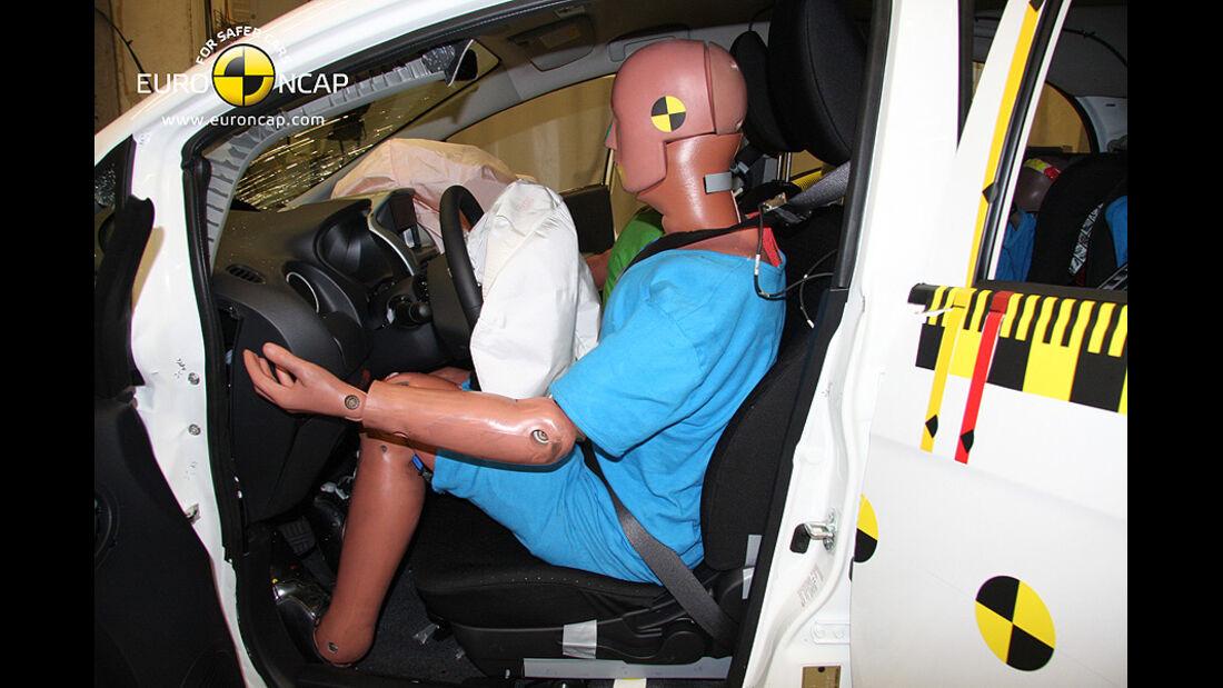 02/2011, EuroNCAP, Crashtest, Ergebnis Mitsubishi i-Miev, Dummy