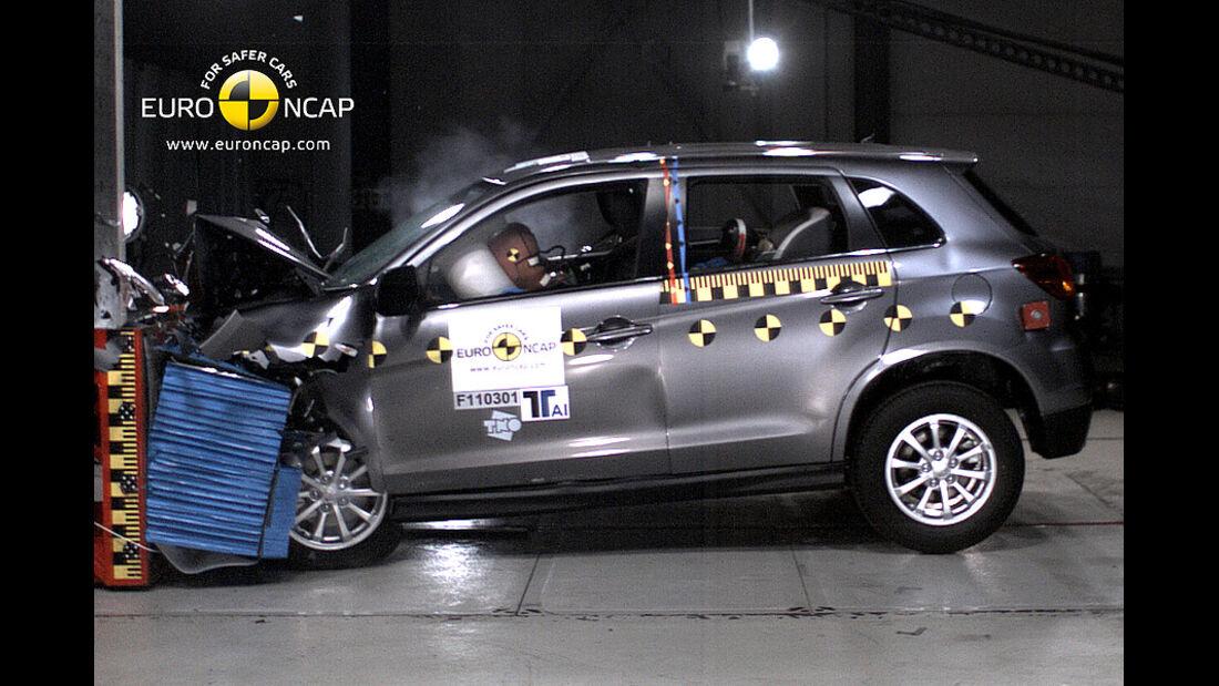 02/2011, EuroNCAP, Crashtest, Mitsubishi ASX, Frontcrash