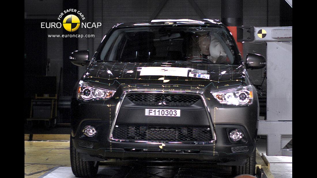 02/2011, EuroNCAP, Crashtest, Mitsubishi ASX, Seitencrash