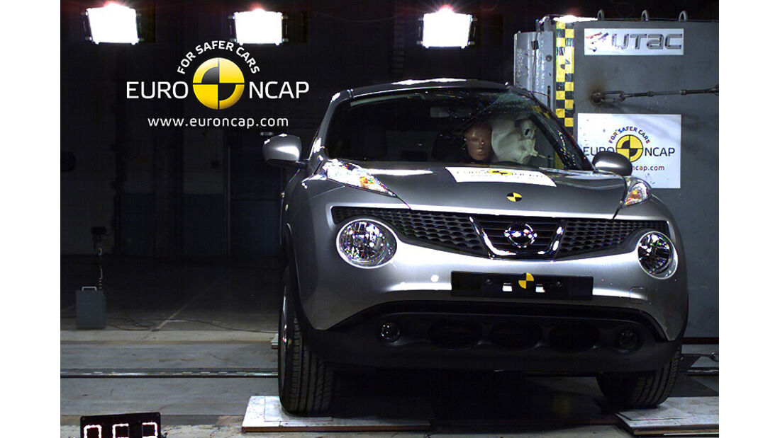 02/2011, EuroNCAP, Crashtest, Nissan Juke, Seitencrash