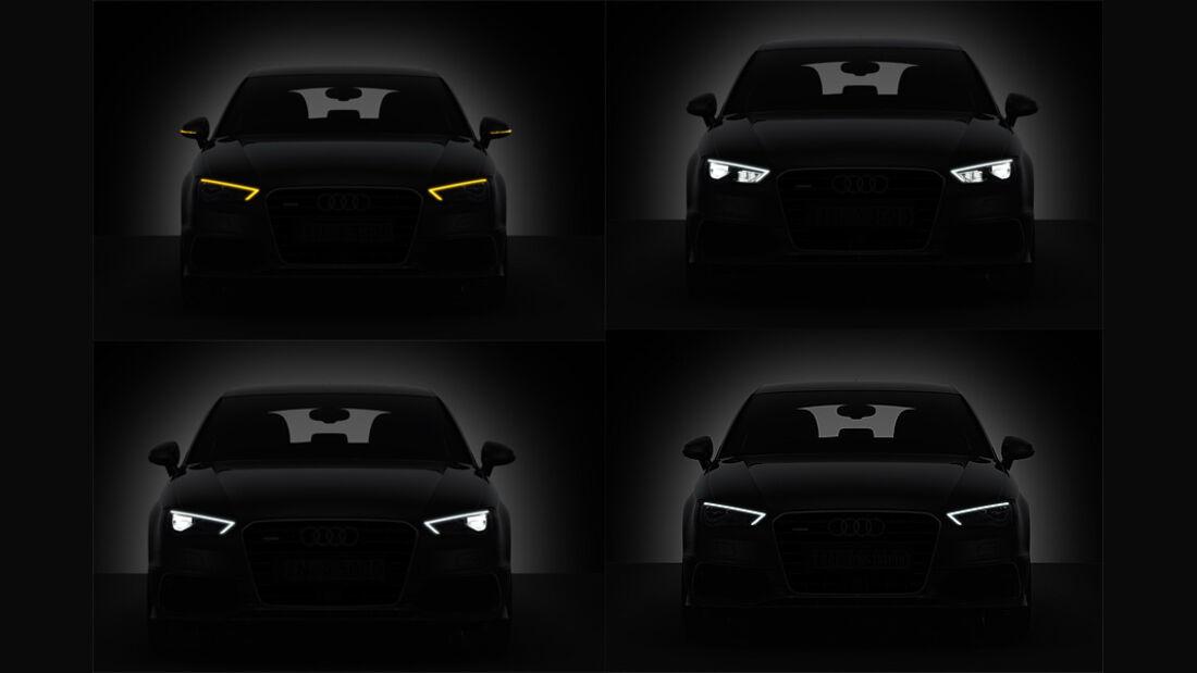 02/2012 Audi A3 , LED-Licht vorne