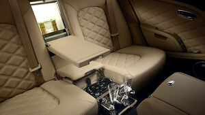 02/2012 Bentley Mulsanne, Innenraum, Bar