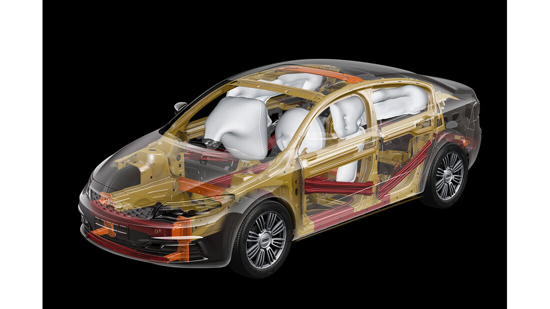 02/2013, Qoros 3 Sedan, Airbags, Durchsicht