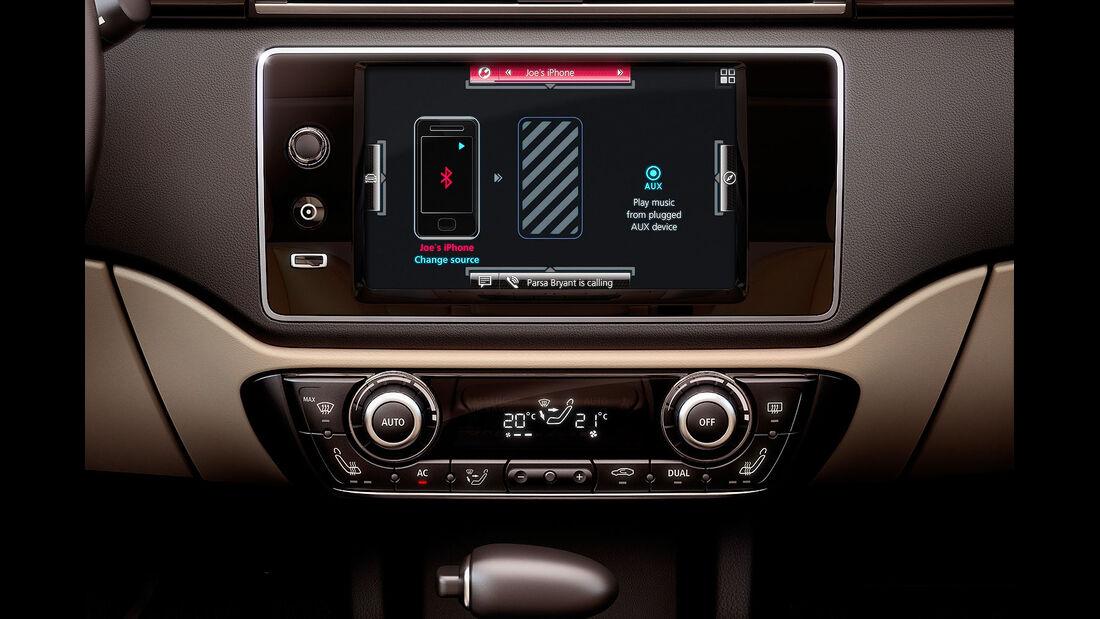 02/2013, Qoros 3 Sedan, Mittelkonsole
