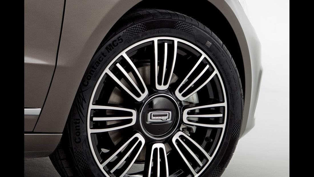 02/2013, Qoros 3 Sedan, Reifen, rad, Felge