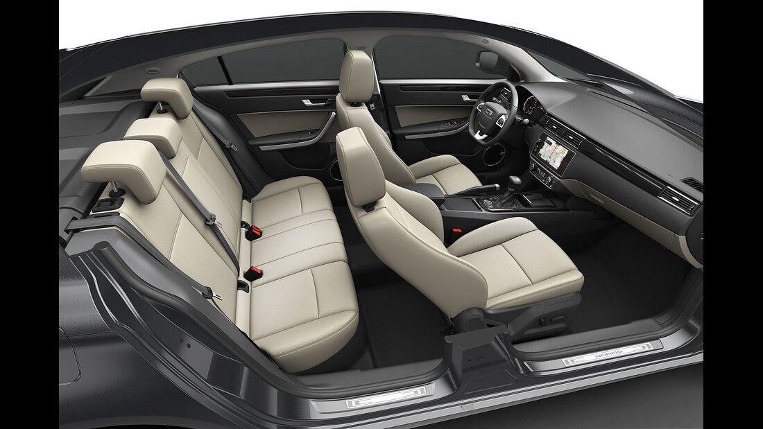 02/2013, Qoros 3 Sedan, innenraum, Sitzanlage