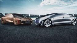 02/2019, BMW Vision iNext und Mercedes Vision Tokyo