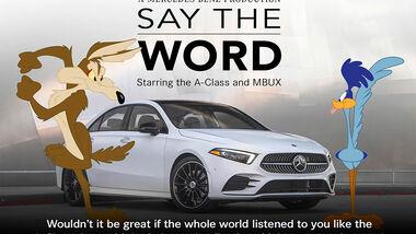 02/2019, Mercedes A-Klasse Stufenheck Super Bowl Werbung