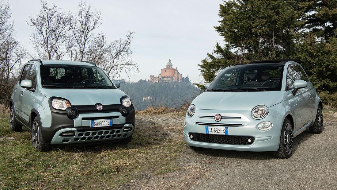02/2020, Fiat 500 Cabrio und Panda Hybrid