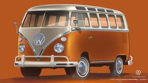 02/2020, VW E-Bulli auf Basis T1 Samba-Bus