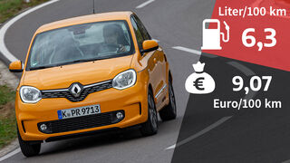 02/2021, Kosten und Realverbrauch Renault Twingo TCe 90 Intens