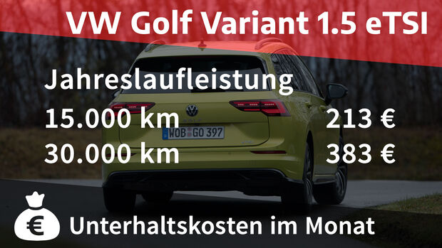02/2021, Kosten und Realverbrauch VW Golf Variant 1.5 eTSI R-Line