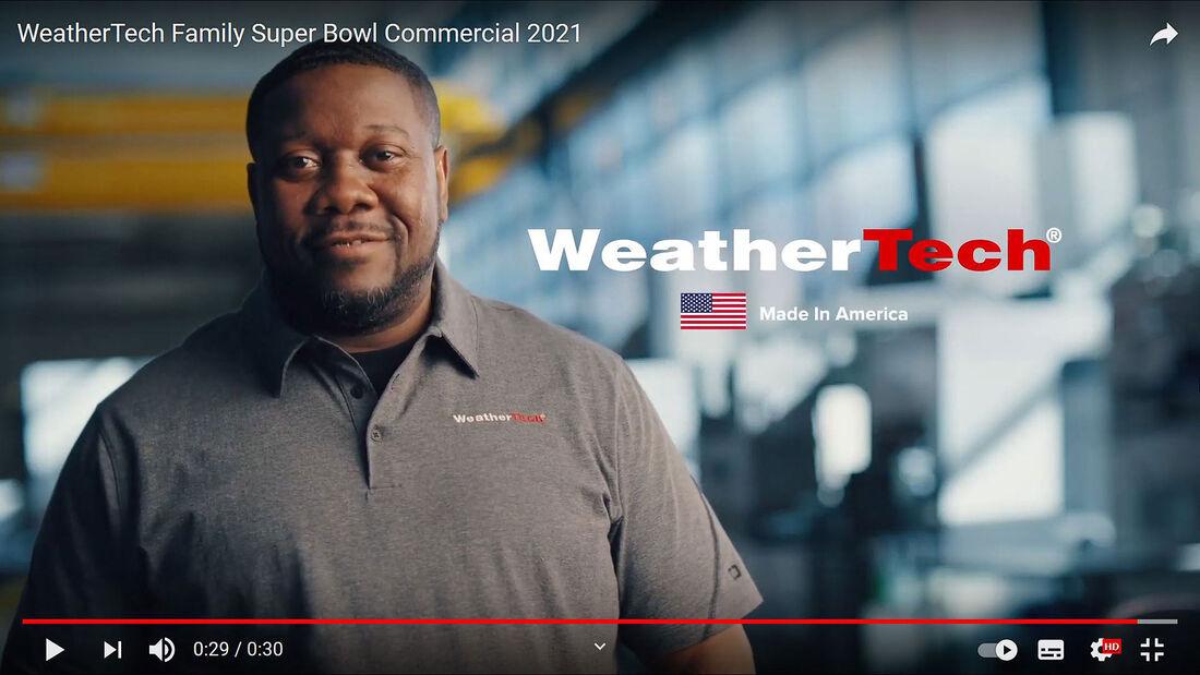 02/2021, WeatherTech Super Bowl Werbespot 2021