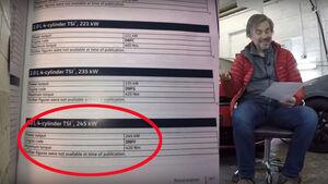 02/2021, Youtuber Volkswizard Andrew Chapple Datenblatt VW Golf R