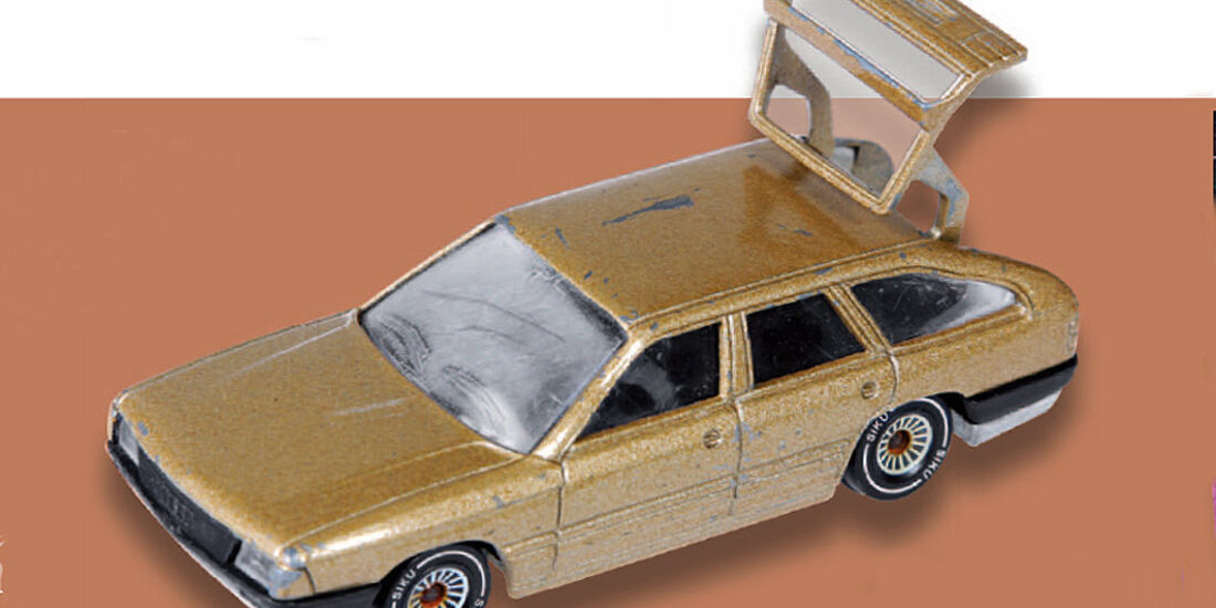 03/11 Auto-Biografie Jens Katemann, Audi 100 Spielzeugauto